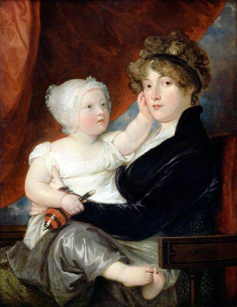 Mrs. Benjamin West jr With Her Son, Benjamin West III (The Artist's Daughter-in-law And Grandson)