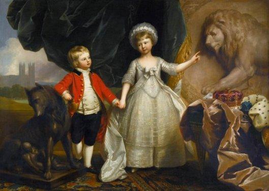 Prince William And His Elder Sister, Princess Sophia