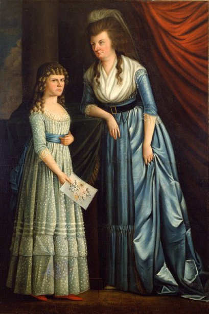 Mrs. Champneys (Mary Harvey) And Her Stepdaughter, Sarah Champneys