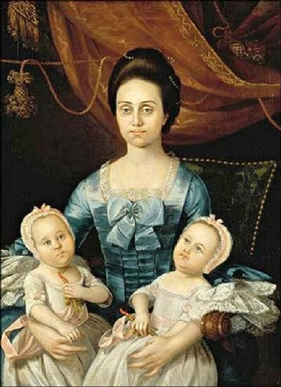 Mrs. Thomas Bolling (Elizabeth Gay)  With Twins Sarah and Ann