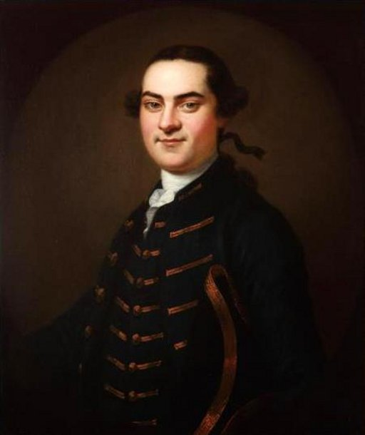 Portrait Of A Gentleman In A Blue Coat With Gold Trim (possibly John Swift)