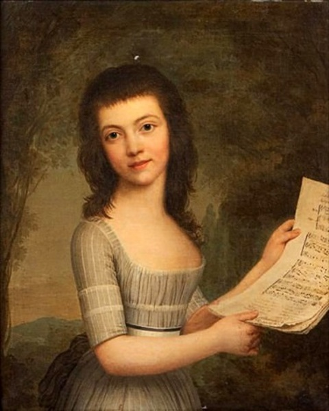 Moly Wittfooth Holding A Music Score