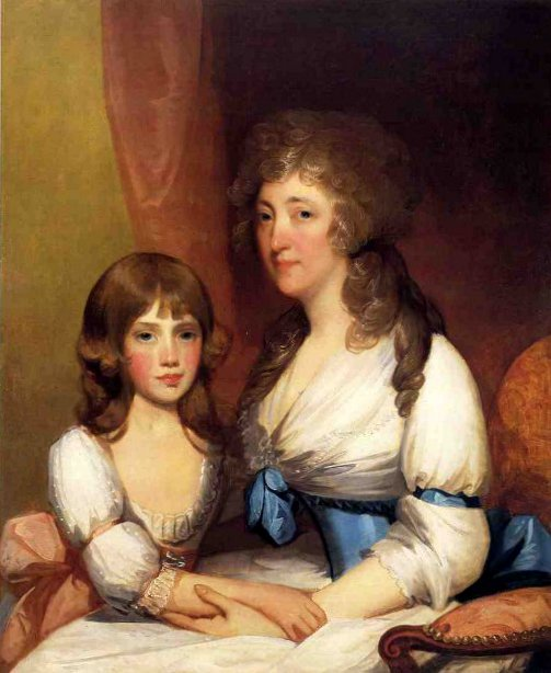 Mrs. Samuel Dick And Daughter Charlotte Anna