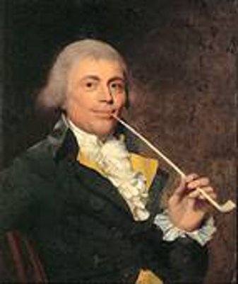 Francis Welch Smoking A Clay Pipe
