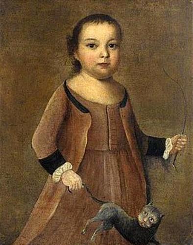 Little Boy Swinging A Cat