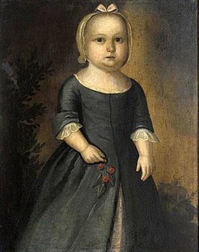 Little Girl In Green Dress Holding Cherries