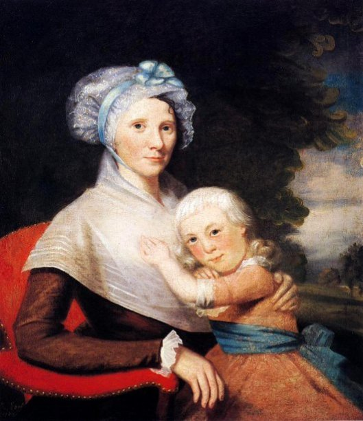 Martha Tennent Rogers (Mrs. David Rogers) And Her Son, possibly Samuel Henry Rogers