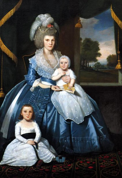 Mrs. Benjamin Tallmadge With Her Son Henry Floyd And Her Daughter Maria Jones