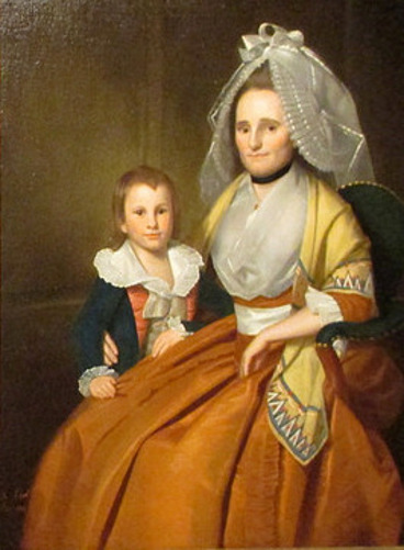 Mrs. Moses Seymour (Molly Marsh) And Son Epaphroditus