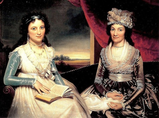 Rebecca Pritchard (Mrs. William Mills) And Her Daughter Eliza