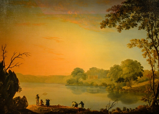 View Of The North Hudson River, Evening