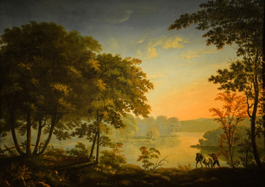 View Of The North Hudson River, Morning