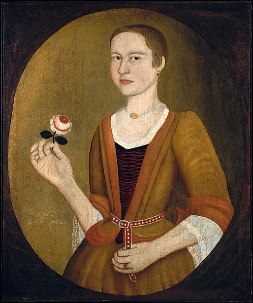 Young Lady With A Rose
