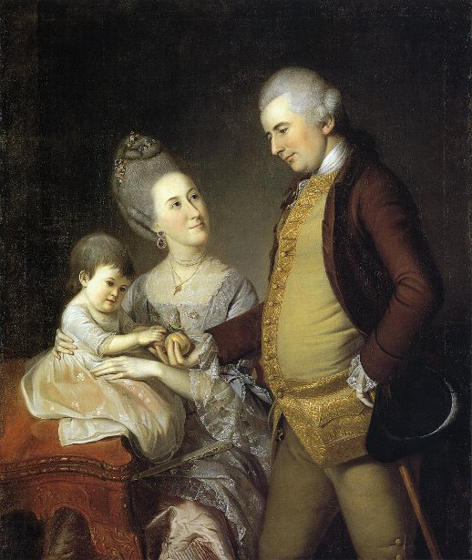 John Cadwalader Family - John And Elizabeth Lloyd Cadwalader And Their Daughter Anne