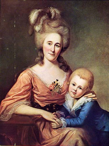 Mrs. James Crawford And Son