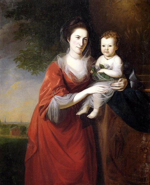 Mrs. John Dickinson And Her Daughter