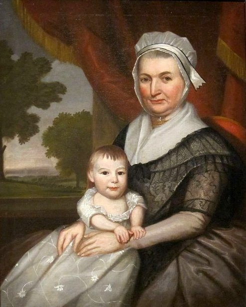 Mrs. John Nicholas And Daughter