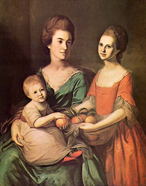 Mrs. Samuel Chase (Ann Baldwin) And Her Daughters, Ann Chase And Matilda Chase