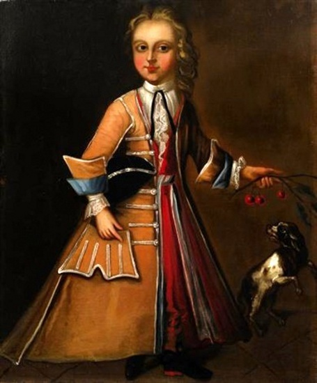 Young Boy With A King Charles Spaniel