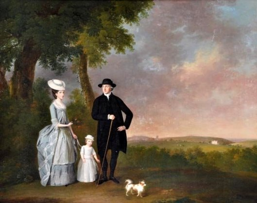 Reverend John Basset Collins, His Wife Elizabeth And Son Francis