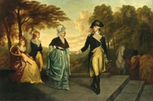 George Washington Leaving His Family