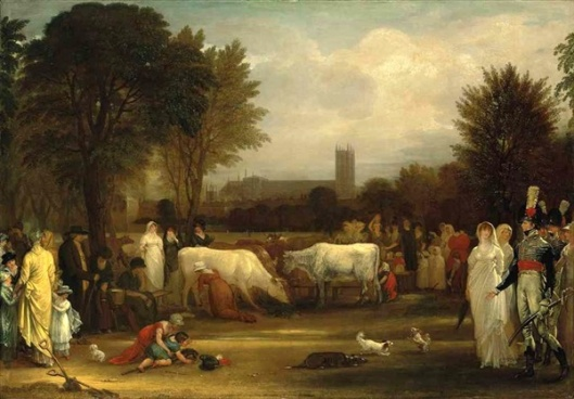 Milkmaids In St. James's Park, Westminster Abbey Beyond