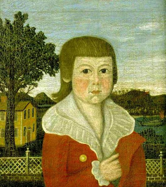 Samuel Tracey Coit - A Young Boy In A Red Jacket