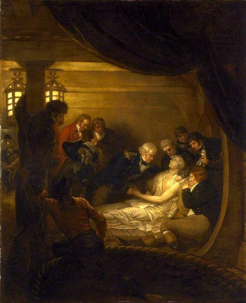The Death Of Lord Nelson In The Cockpit Of The Ship Victory