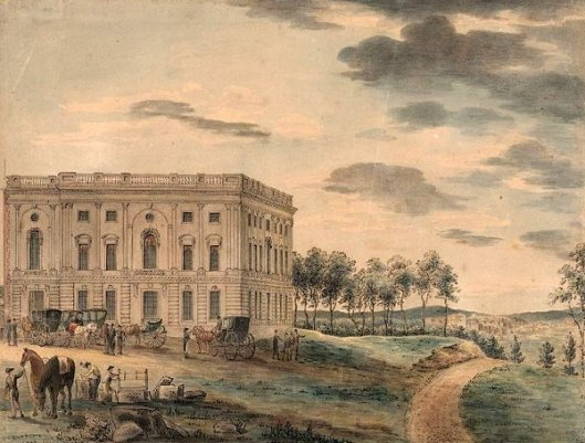 A View Of The Capitol Of Washington Before It Was Burnt Down By The British