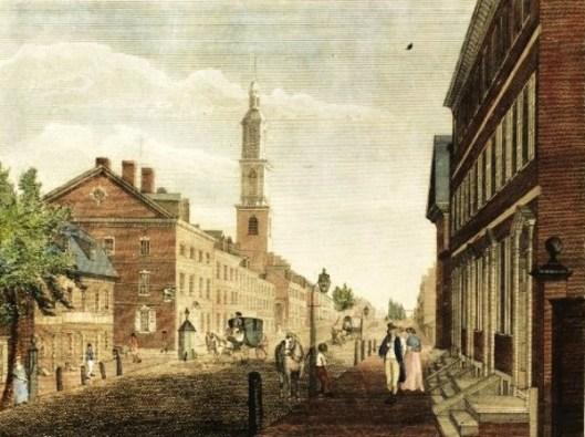 Arch Street and the Second Presbyterian Church, Philadelphia