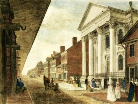 High Street, with the First Presbyterian Church