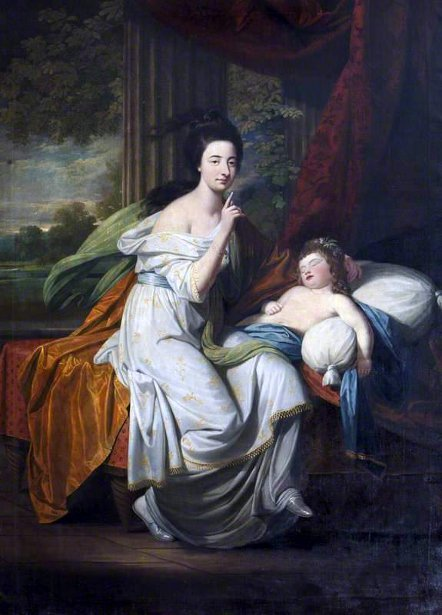 Jocosa Katerina Drury, Lady Cust, And Her Niece Lady Caroline Hobart, later Lady Suffield