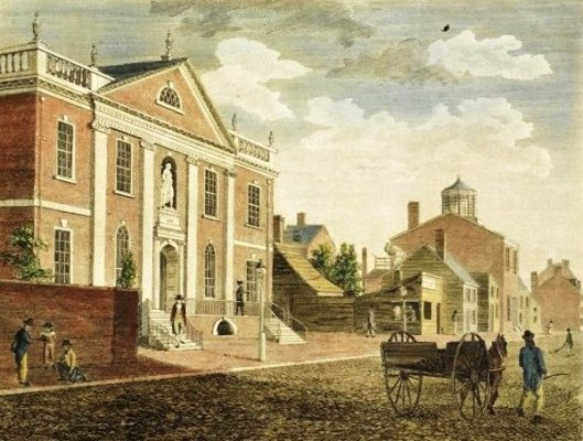 Library And Surgeons Hall From Fifth Street, Philadelphia