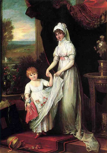Mrs. Thomas Keyes And Her Daughter
