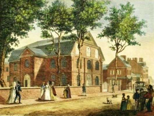Old Lutheran Church In Fifth Street, Philadelphia