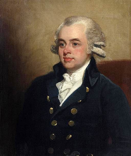 Portrait Of A Gentleman In A Dark Blue Coat And Cravat
