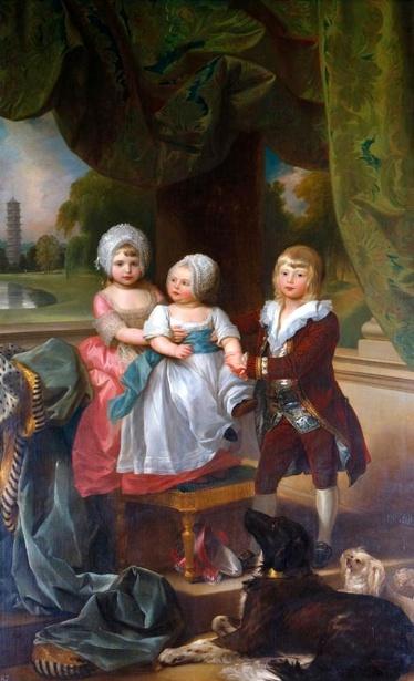 Prince Adolphus, later Duke Of Cambridge, With Princess Mary And Princess Sophia