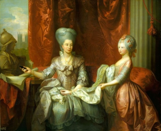 Queen Charlotte With Charlotte, Princess Royal