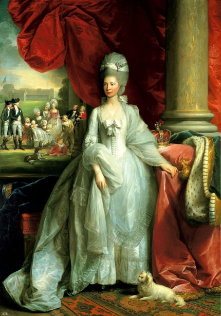 Queen Charlotte, With Windsor And The Royal Family In The Background