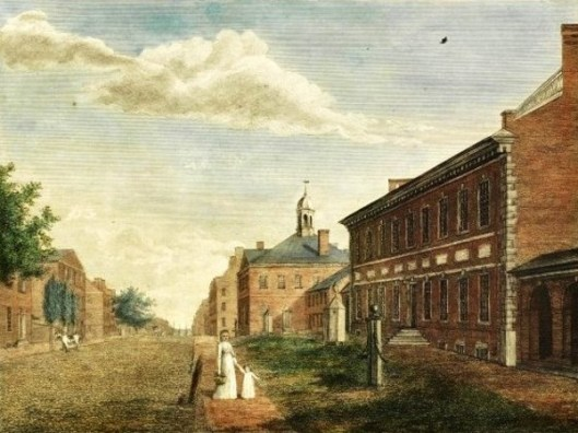 State House With A View Of Chestnut Street, Philadelphia