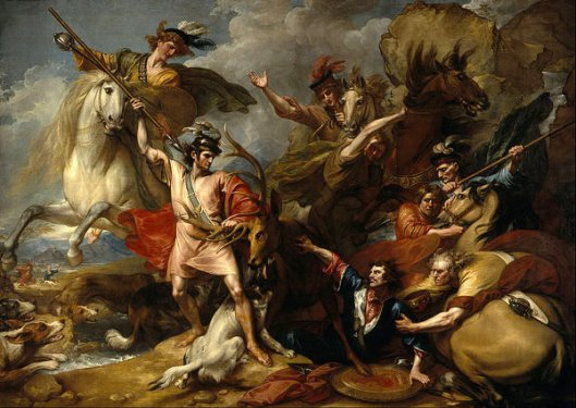Alexander III Of Scotland Rescued From The Fury Of A Stag By The Intrepidity Of Colonel Fitzgerald