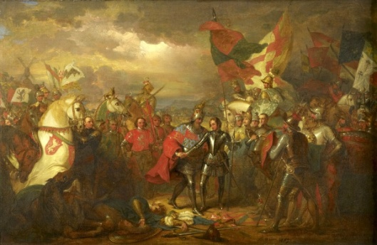 Edward III With The Black Prince After The Battle Of Crecy