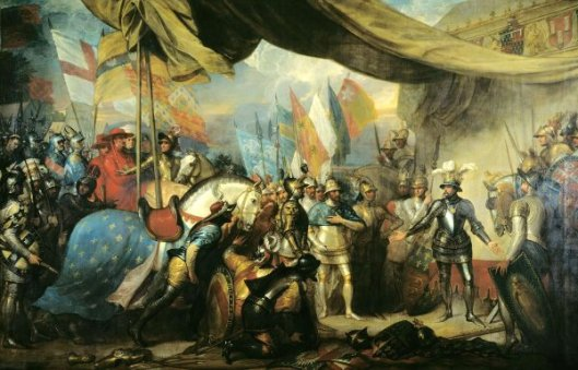 Edward The Black Prince Receiving King John Of France After The Battle Of Poitiers