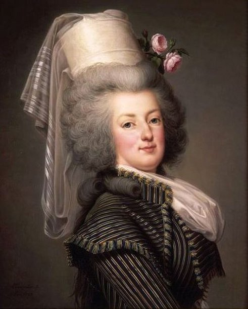 Marie Antoinette, Queen Of France, In A Hunting Dress