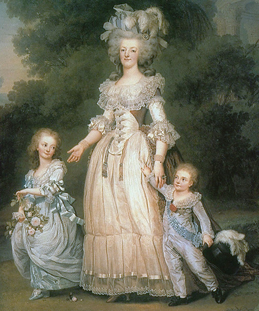 Queen Marie Antoinette of France With Her Children