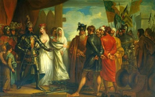 The Burghers Of Calais - Queen Philippa Interceding For The Burgesses Of Calais