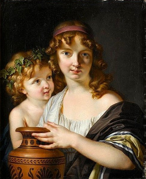 Young Woman Holding An Urn With A Bacchante