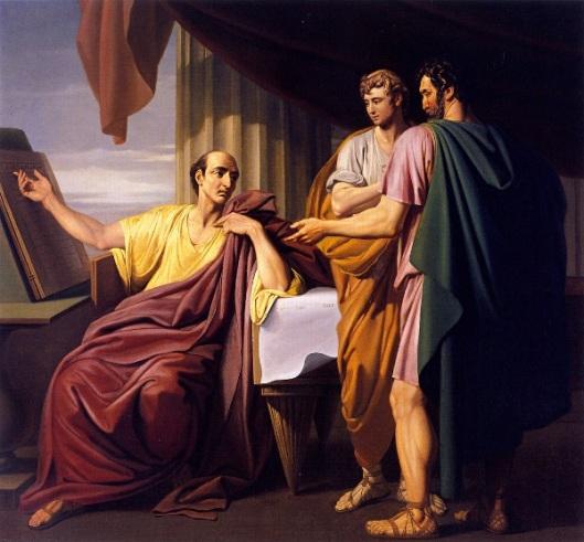 Caesar Reading The History Of Alexander's Exploits