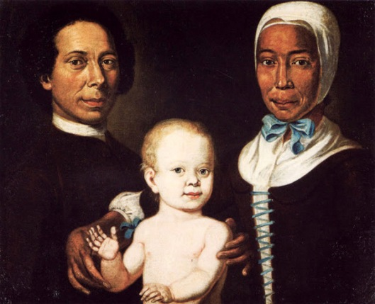 Christian Protten, Ex Slave Rebecca With Baby Anna Maria