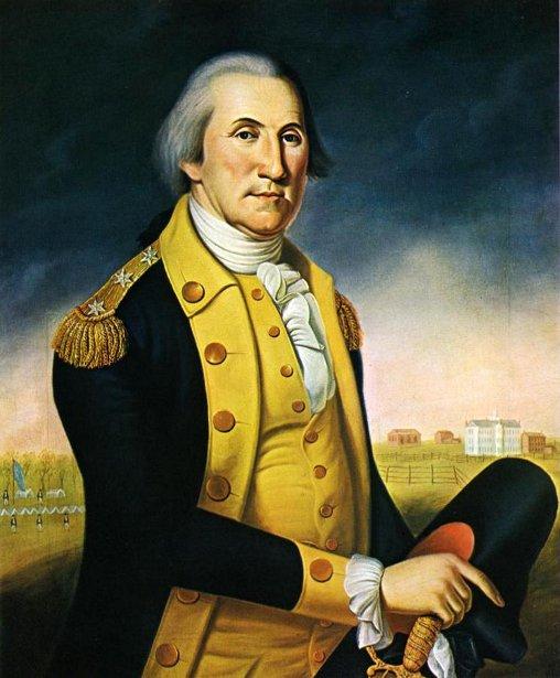 George Washington Before Nassau Hall